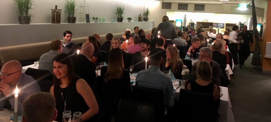 Dam och Herr avslutade 2017 med gemensam middag
