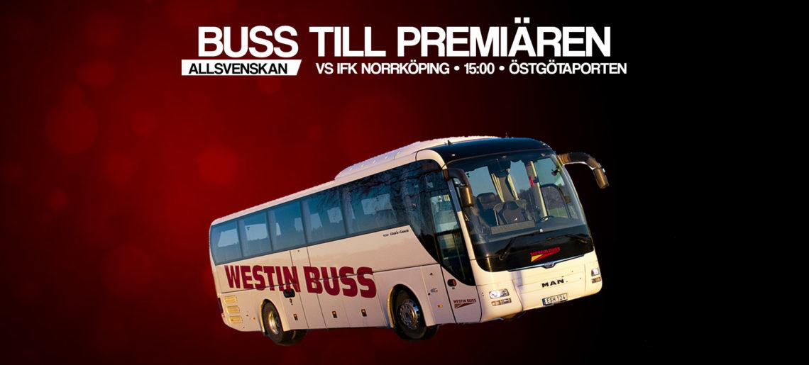 Åk med Westin Buss till den allsvenska premiären