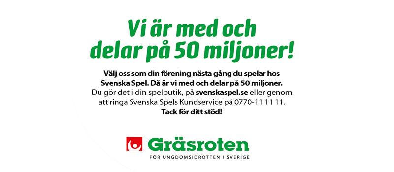 Välj BP i Gräsroten när du spelar hos Svenska Spel