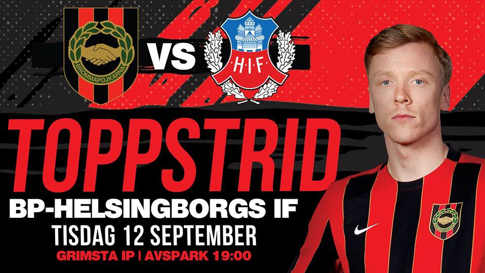 Publikinformation BP – Helsingborgs IF 12 september 19.00