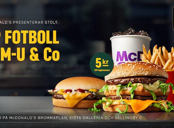 Köp Sponsormenyn på McDonald's Västerort och stötta BP Dam-U